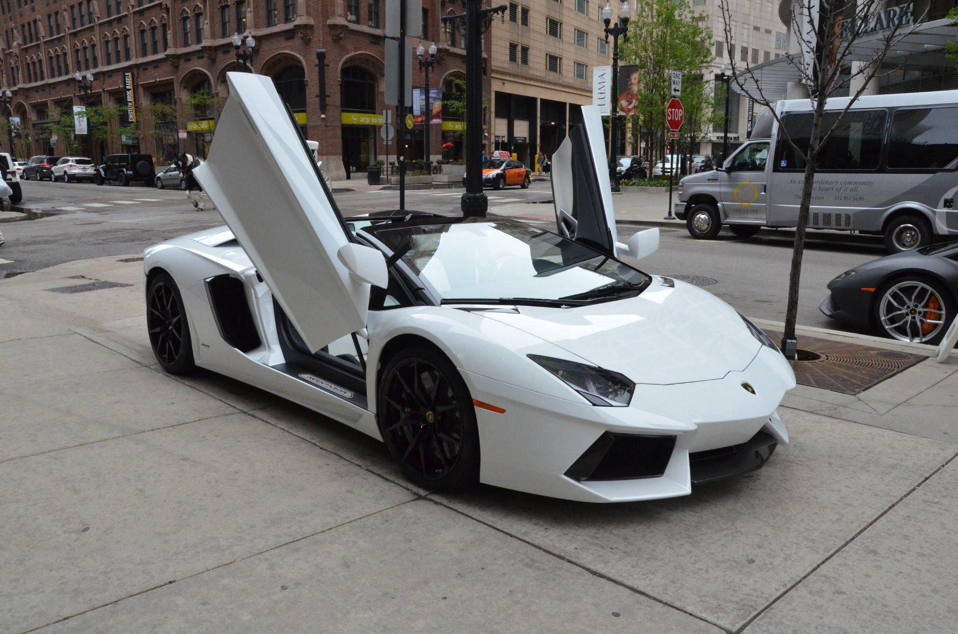 2014 lamborghini aventador roadster cars bianco isis white wallpaper 1920x1272 759862 wallpaperup - Lamborghini Aventador Roadster White