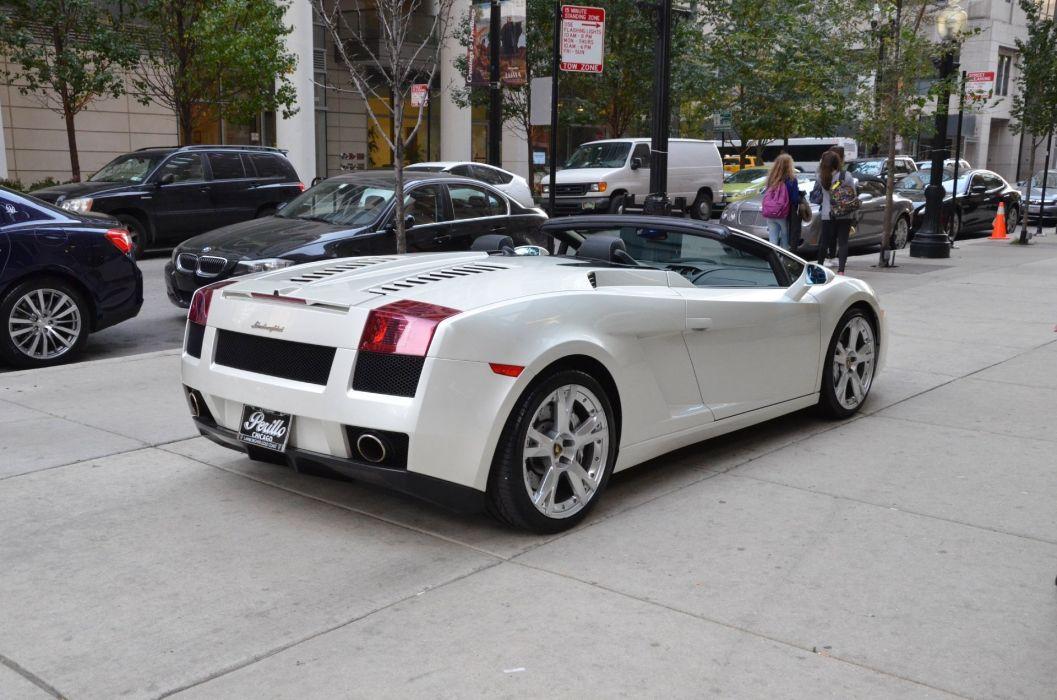 2008 LAMBORGHINI GALLARDO SPYDER cars BALOON WHITE wallpaper