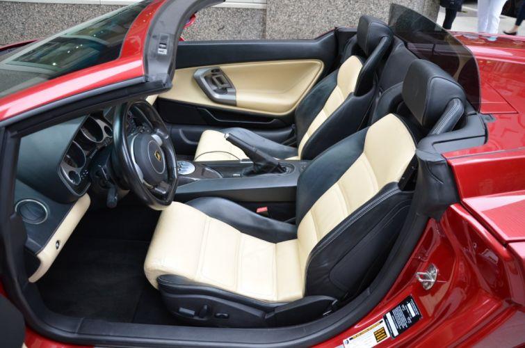 2007 LAMBORGHINI GALLARDO SPYDER cars NERO NOCTIS RED wallpaper