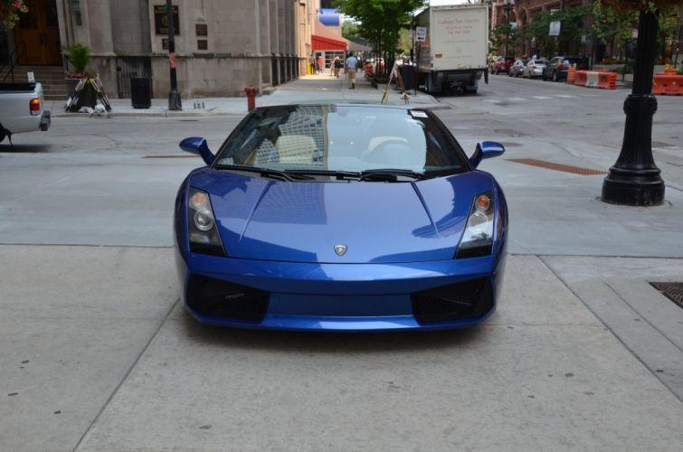 2006 LAMBORGHINI GALLARDO SPYDER cars NERO NOCTIS BLUE wallpaper