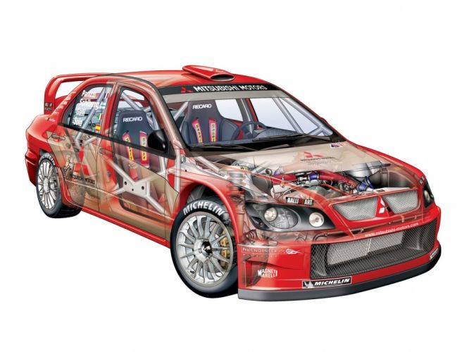 Mitsubishi Lancer WRC cars rally 2004 wallpaper