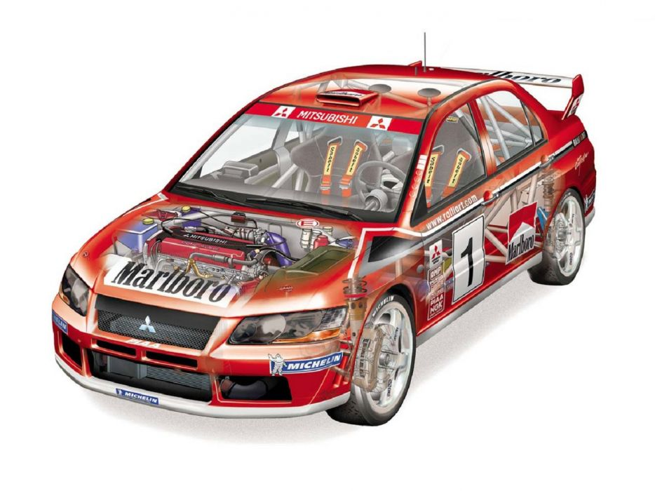 Mitsubishi Lancer evo VII WRC rally cars 2001 wallpaper