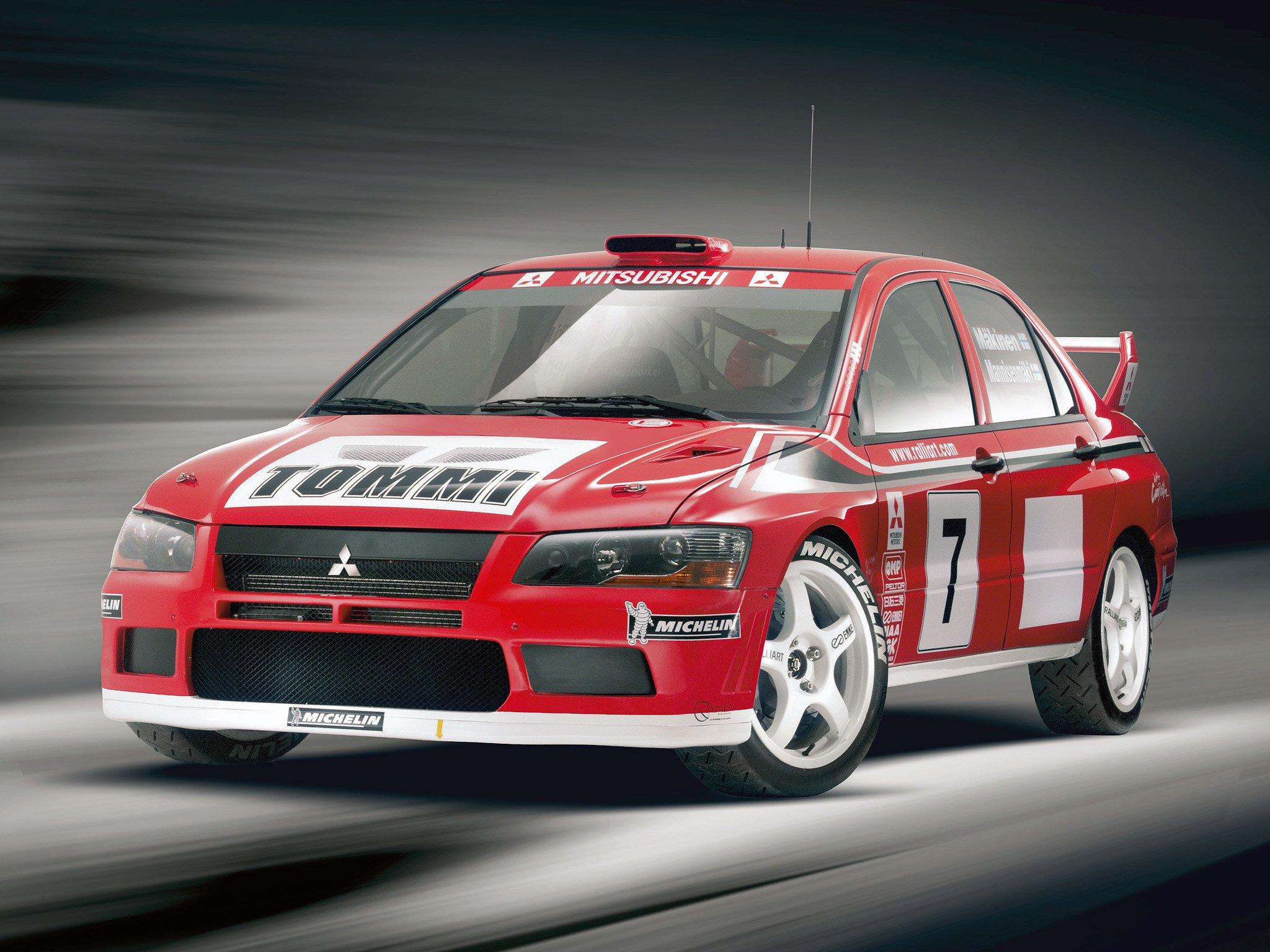 Mitsubishi Lancer evo VII WRC rally cars 2001 wallpaper   2048x1536 ...