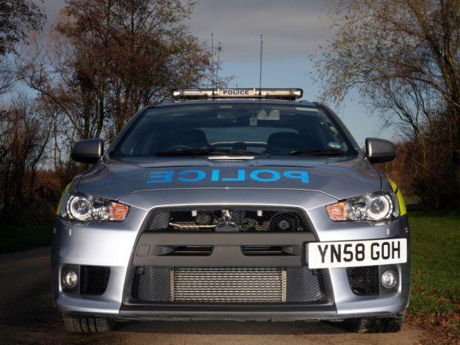 Mitsubishi Lancer evo-X POLICE cars 2008 wallpaper