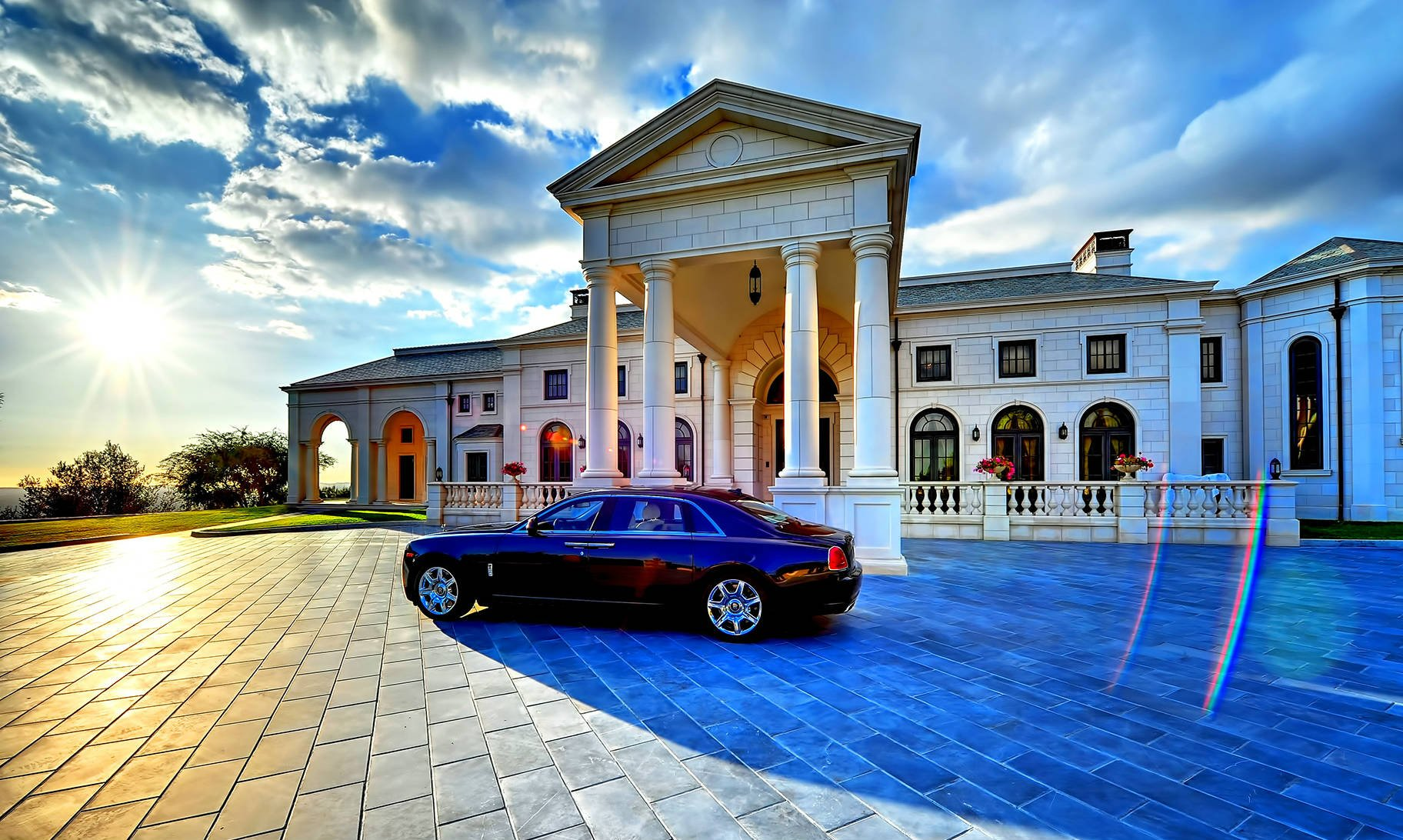 Mansion house building architecture interior design for Wallpaper luxury home