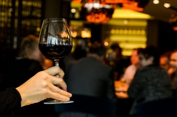 RESTAURANT food architecture interior design room people wine glass alcohol wallpaper