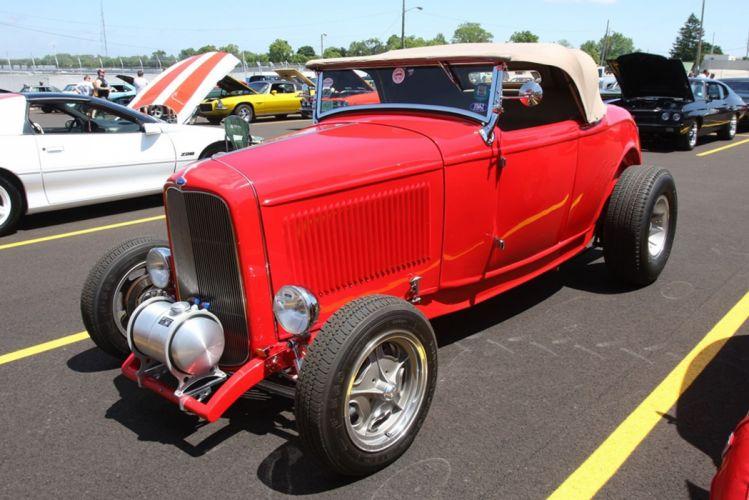 1932 Ford Roadster Hightboy Hotrod Rot Rod USA -02 wallpaper