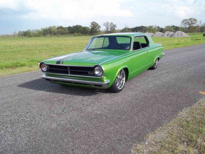 1965 Dodge Dart Coupe Hardtop Street Machine Pro Touring Green USA -02 wallpaper