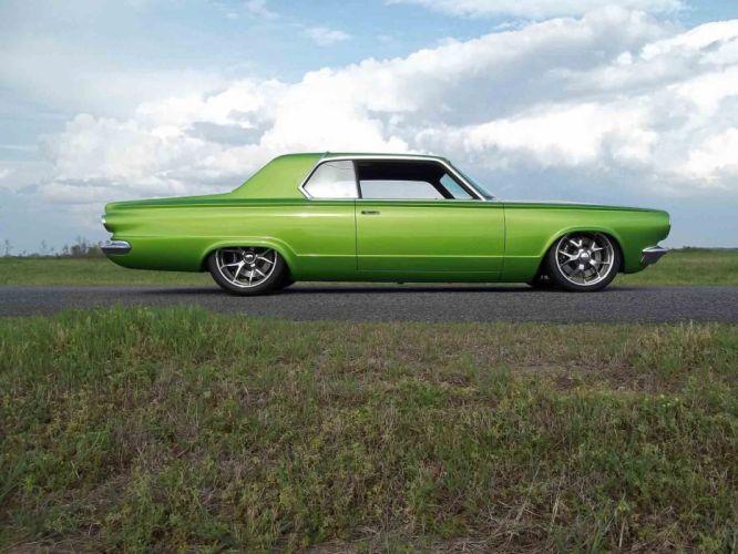 1965 Dodge Dart Coupe Hardtop Street Machine Pro Touring Green USA -10 wallpaper