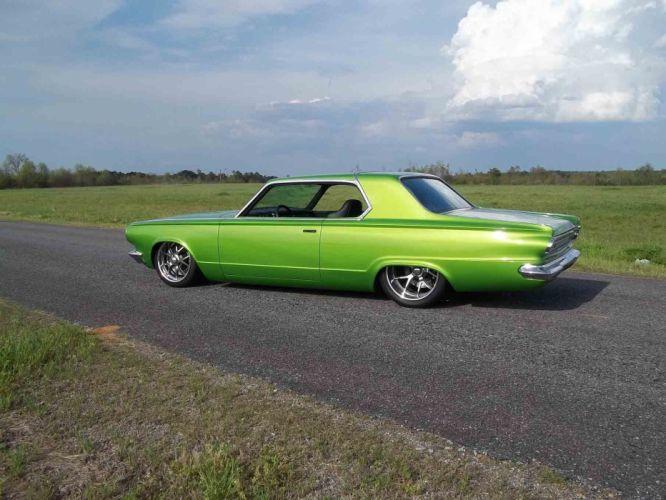 1965 Dodge Dart Coupe Hardtop Street Machine Pro Touring Green USA -22 wallpaper