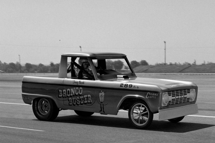 1966 Ford Bronco Pro Stock Drag Draster Race Vintage USA -01 wallpaper