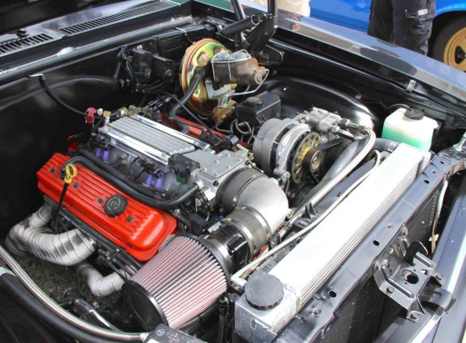1968 Chevrolet Chevy Nova Street Machine Cruiser Hot Black USA -04 wallpaper