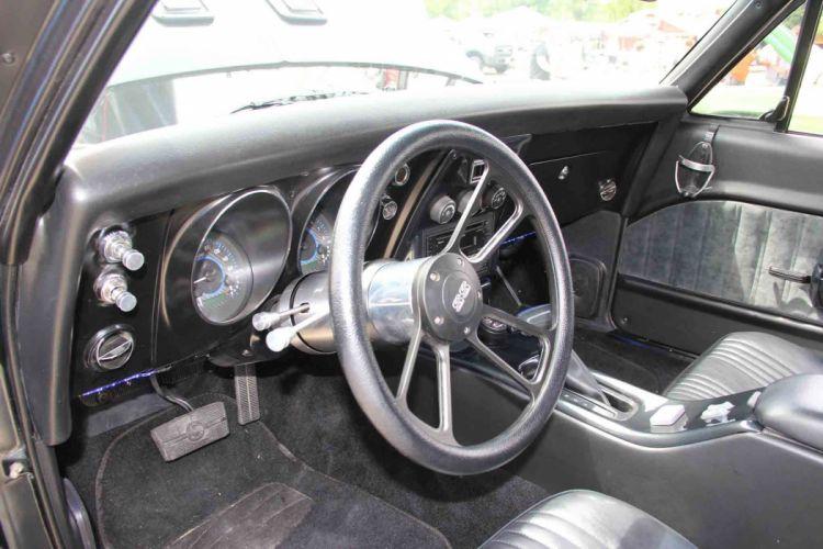 1968 Chevrolet Chevy Nova Street Machine Cruiser Hot Black USA -05 wallpaper
