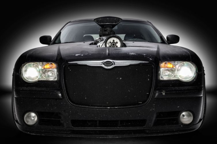 2006 Chrysler 300C SRT8 Sedan Mad Max Street Machine Pro Touring Black USA -05 wallpaper