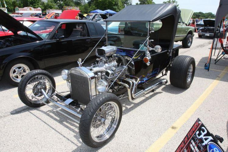 1927 Ford Model-T Tbucket Rodster Hot Rod Hotrod Blue USA -06 wallpaper