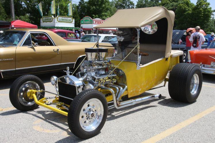 1927 Ford Model-T Tbucket Rodster Hot Rod Hotrod Blue USA -03 wallpaper