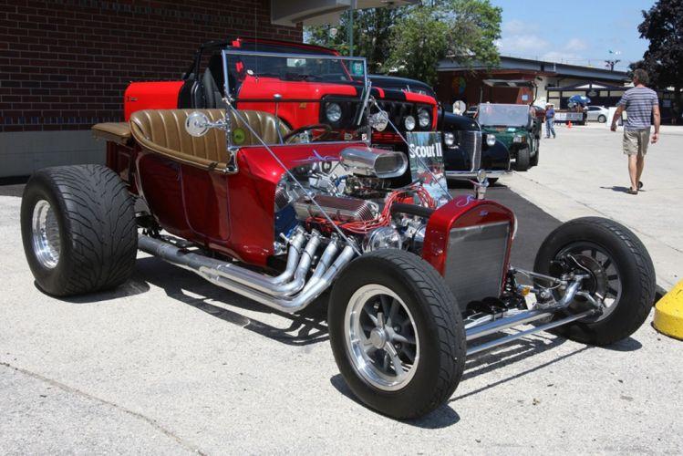 1927 Ford Model-T Tbucket Rodster Hot Rod Hotrod Blue USA -04 wallpaper