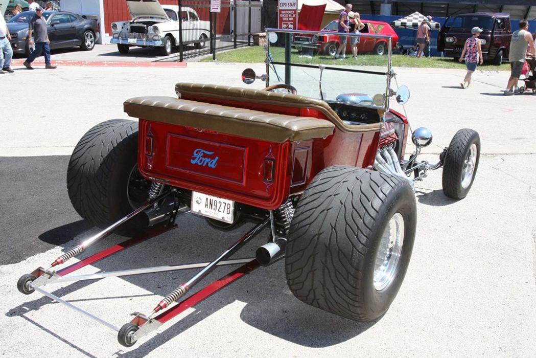 1927 Ford Model-T Tbucket Rodster Hot Rod Hotrod Blue USA -05 wallpaper