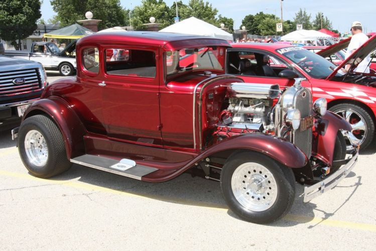 1929 Ford Model-A Coupe Hot Rod Hotrod USA -01 wallpaper