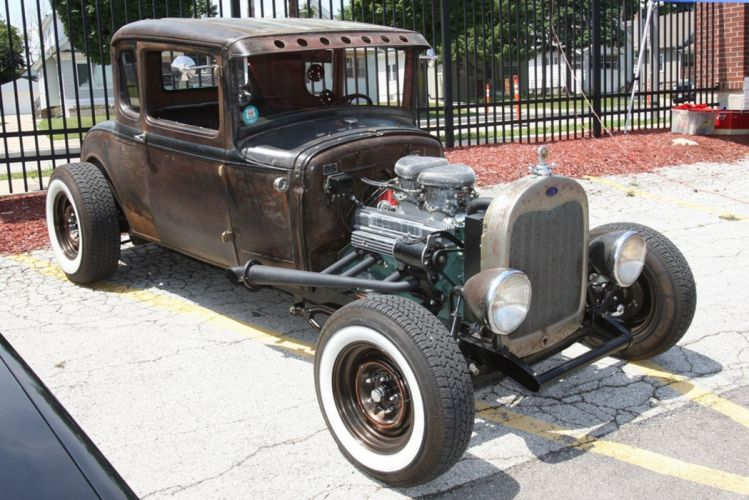 1929 Ford Model-A Coupe Hot Rod Hotrod Ratrod Rat USA -01 wallpaper