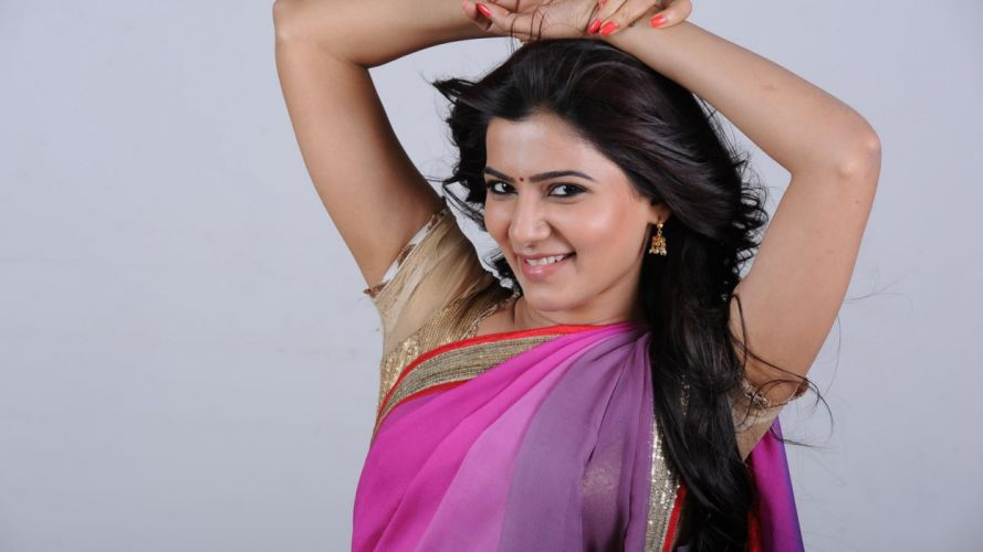 samantha saree hair actress people ultra 3840x2160 hd-wallpaper-1469992 wallpaper
