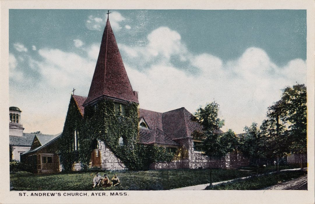 POSTCARD paper poster advertising vintage retro antique church cathedral religion wallpaper
