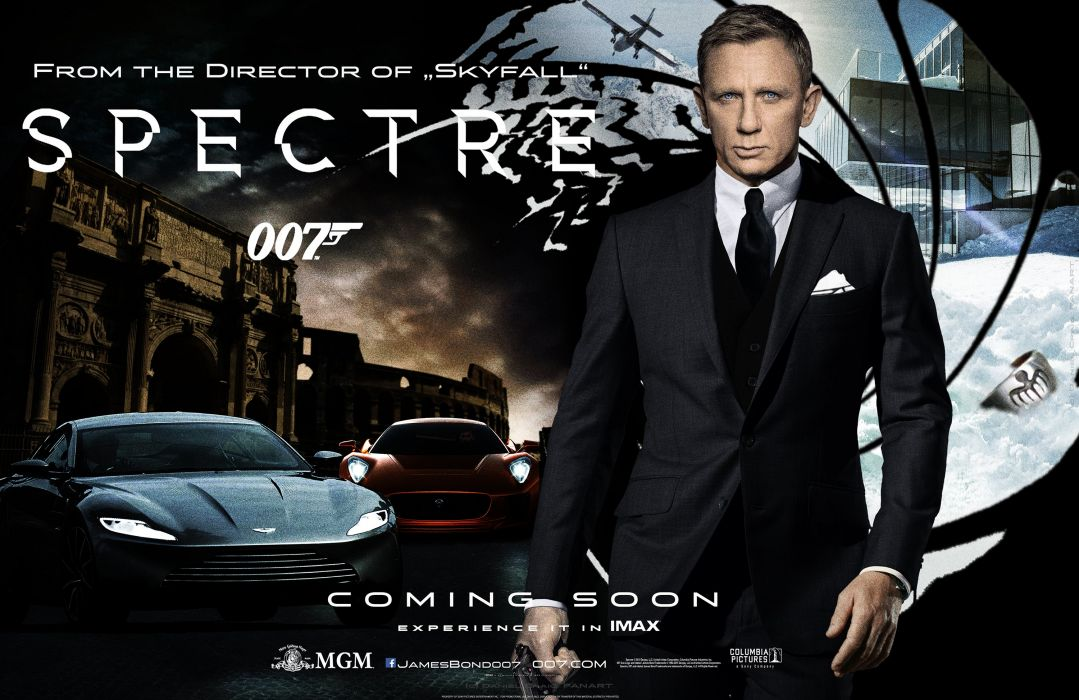 SPECTRE 007 BOND 24 james action spy crime thriller 1spectre mystery poster wallpaper