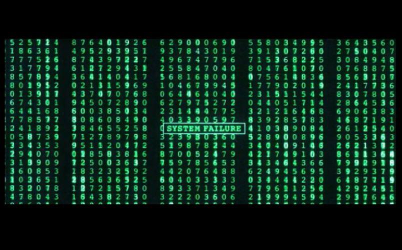The Matrix system failure wallpaper