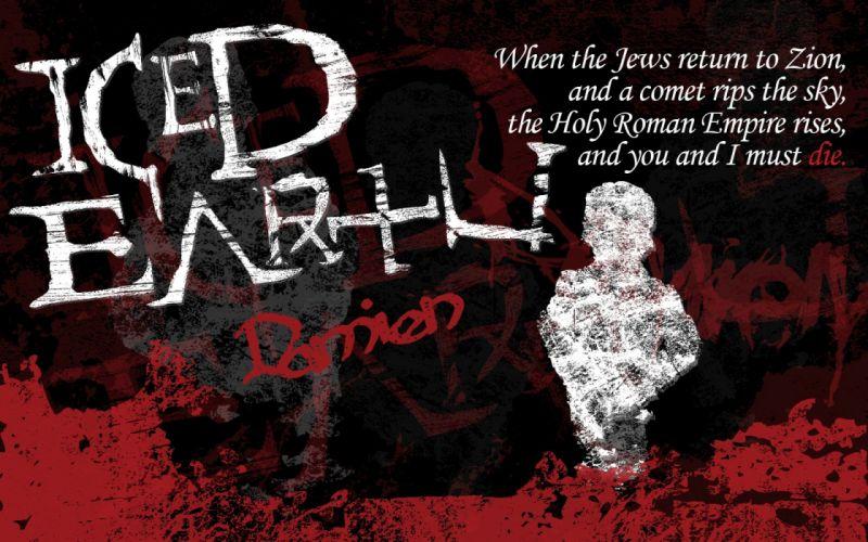 ICED EARTH heavy metal death power thrash 1iced artwork dark evil fantasy poster occult satanic wallpaper