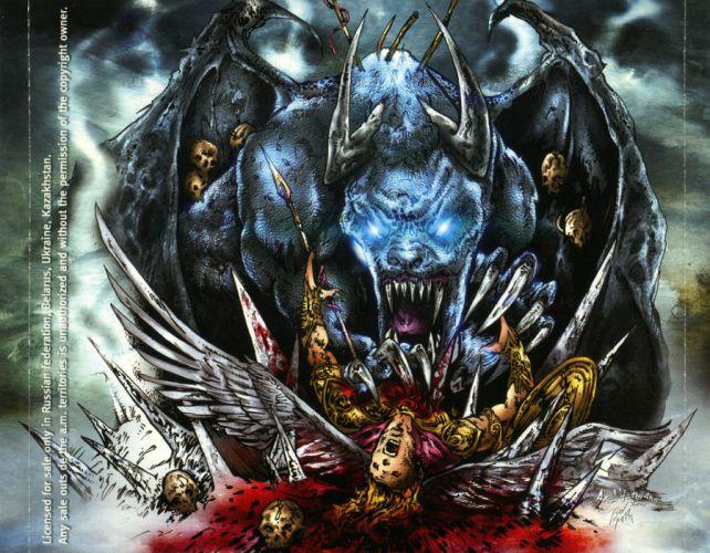 ICED EARTH heavy metal death power thrash 1iced artwork dark evil fantasy poster monster warrior reaper wallpaper