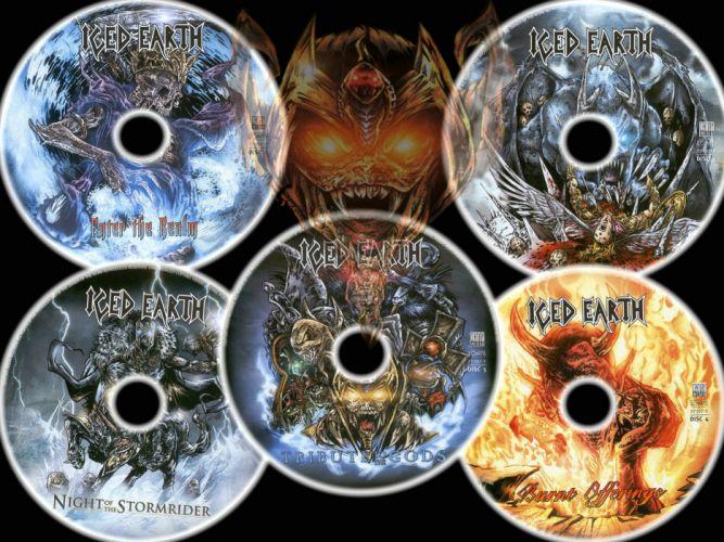 ICED EARTH heavy metal death power thrash 1iced artwork dark evil fantasy poster warrior reaper wallpaper