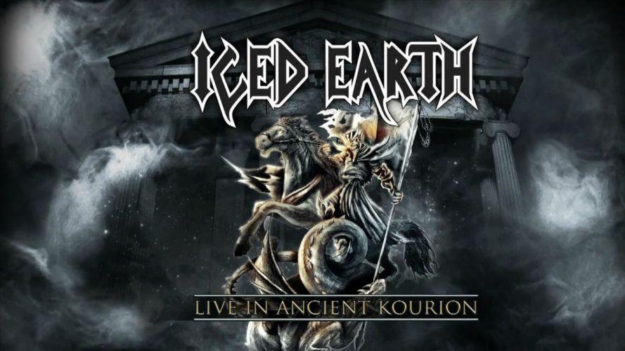 ICED EARTH heavy metal death power thrash 1iced artwork dark evil fantasy poster warrior reaper demon wallpaper