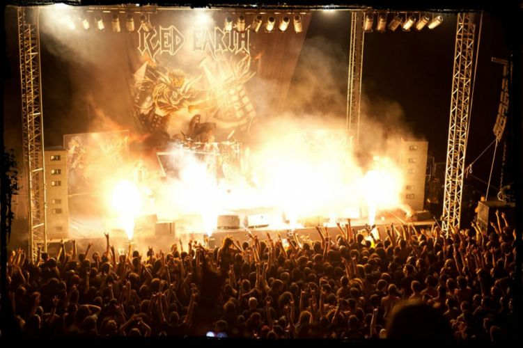 ICED EARTH heavy metal death power thrash 1iced people crowd concert wallpaper
