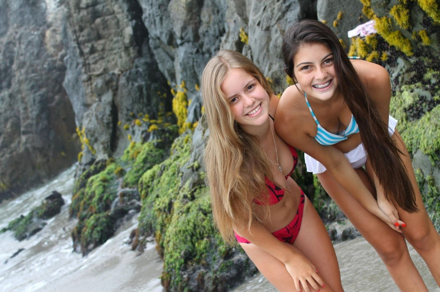 Teen bikini beach stock footage royalty free stock pics