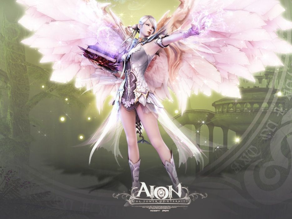 aion the tower of eternity girl bow arrows magic wallpaper
