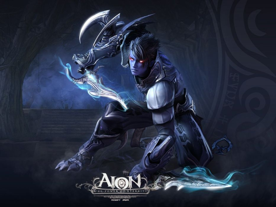 aion the tower of eternity man magic equipment light wallpaper