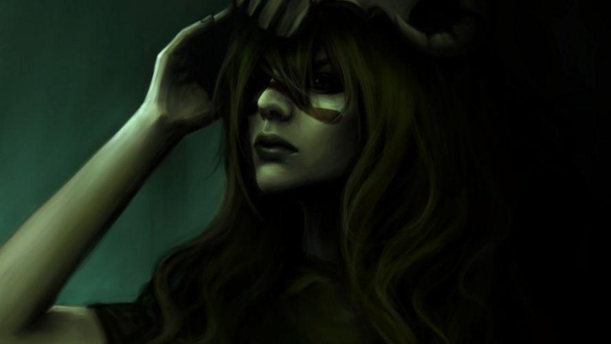 Arts faces mochifin bleach nell girl hand skull wallpaper