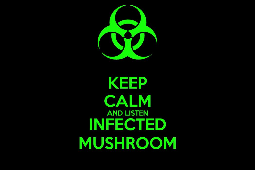 INFECTED MUSHROOM Psychedelic Trance Electro House Electronica Electronic Rock Industrial Disc Jockey Keep Calm Poster Wallpaper