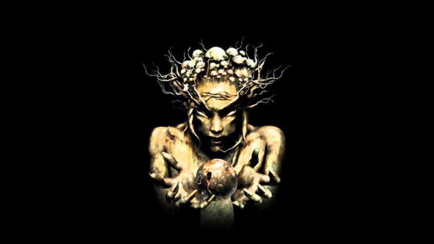 INFECTED MUSHROOM psychedelic trance electro house electronica electronic rock industrial disc jockey 1imush artwork fantasy dark demon wallpaper
