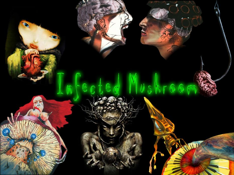 INFECTED MUSHROOM psychedelic trance electro house electronica electronic rock industrial disc jockey 1imush artwork fantasy poster wallpaper