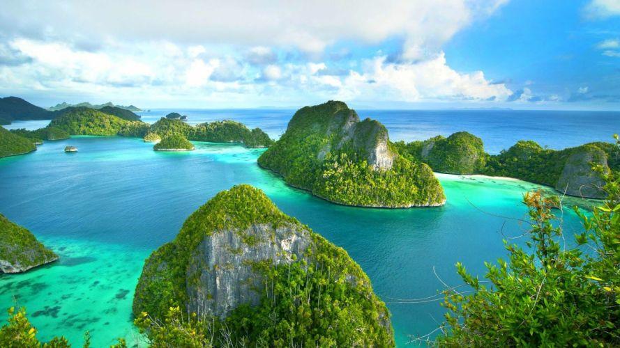 Raja Ampat West Papua Indonesia island sea ocean wallpaper