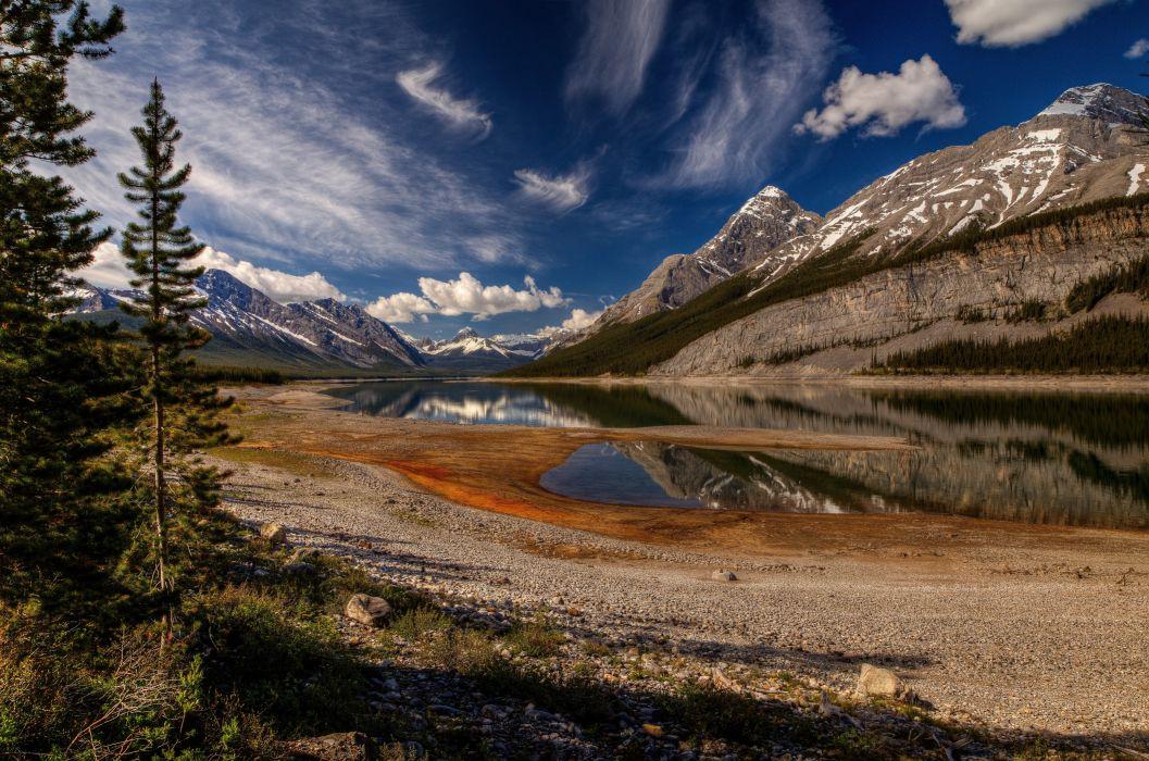 Spray Lake Kananaskis Country Alberta wallpaper