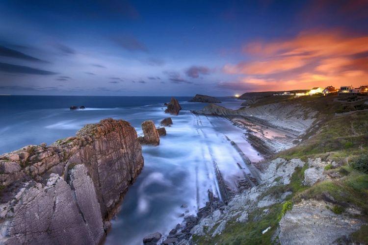 Costa de Cantabria Spain bexh shore coast ocean sea wallpaper