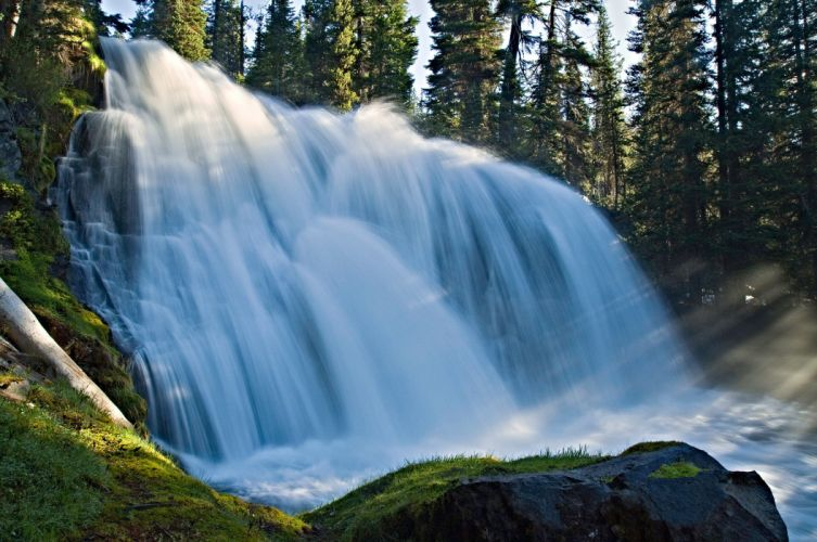 waterfall water nature beauty landscape wallpaper