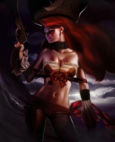 weapon fantasy girl red hair woman beautiful wallpaper
