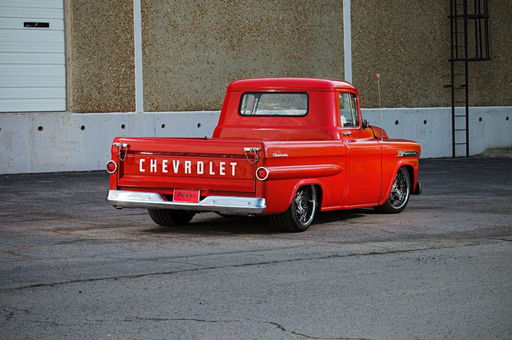 1959 Chevrolet Chevy Apache 3100 Pickup Fleetside Super Street Cruiser Usa 02 Wallpaper 5616x3730 764132 Wallpaperup