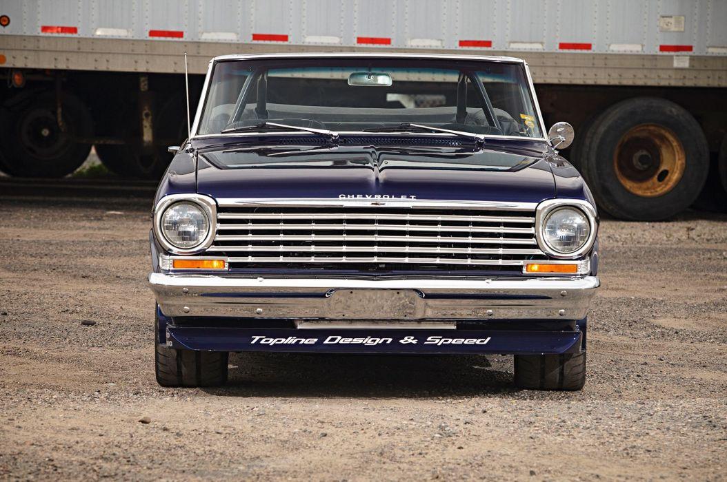 1963 Chevrolet Chevy Nova SS Convertible Super Street Pro Touring USA -02 wallpaper