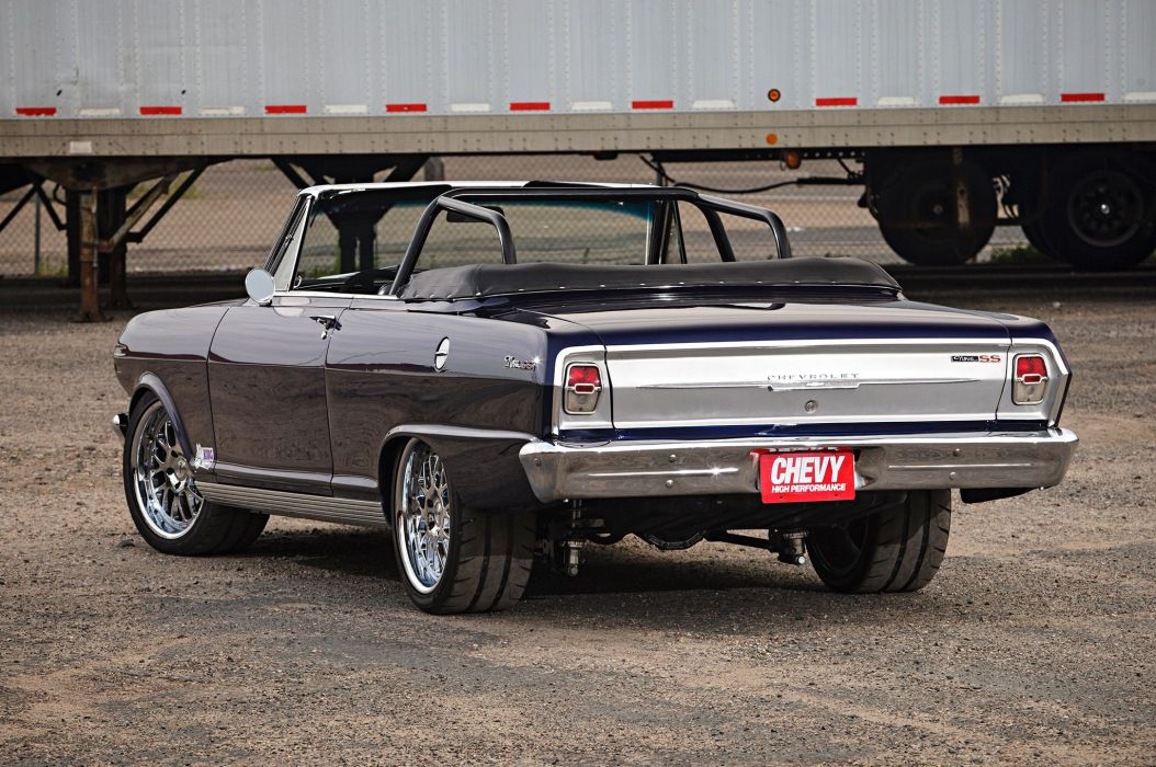 1963 Chevrolet Chevy Nova SS Convertible Super Street Pro Touring USA -06 wallpaper