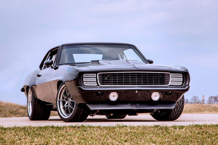 1969 Chevrolet Chevy Camaro Pro Touring USA -01 wallpaper