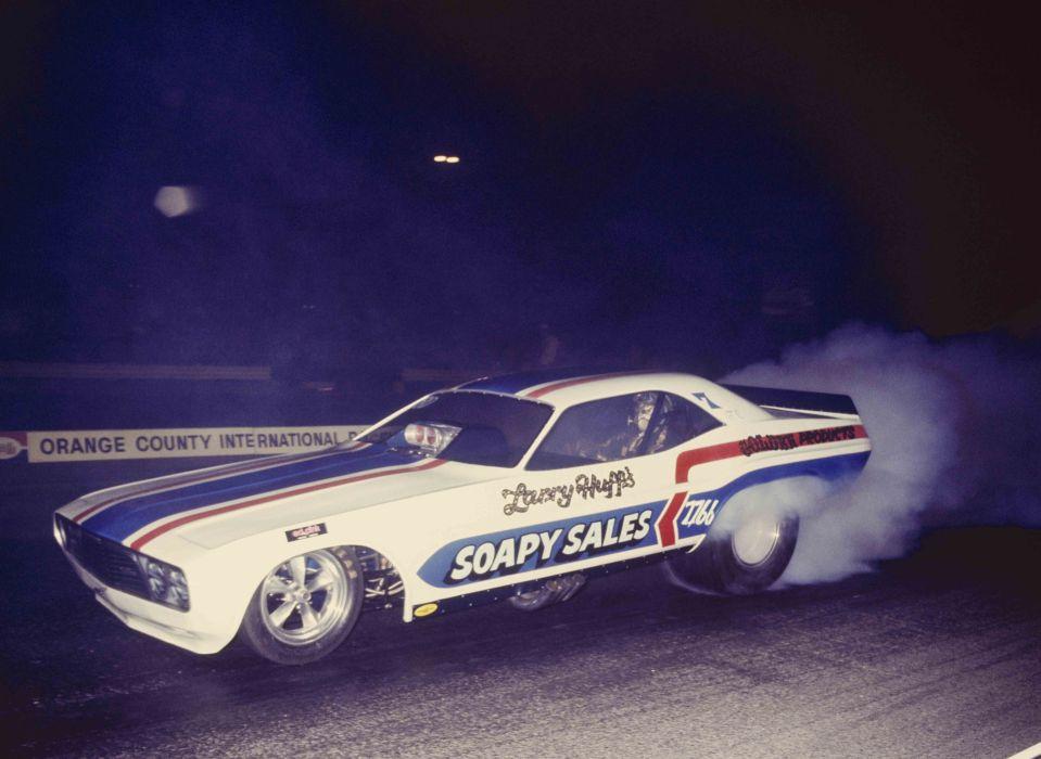 1973 Dodgr Challemger Funny car Drag Race Burnout USA -01 wallpaper